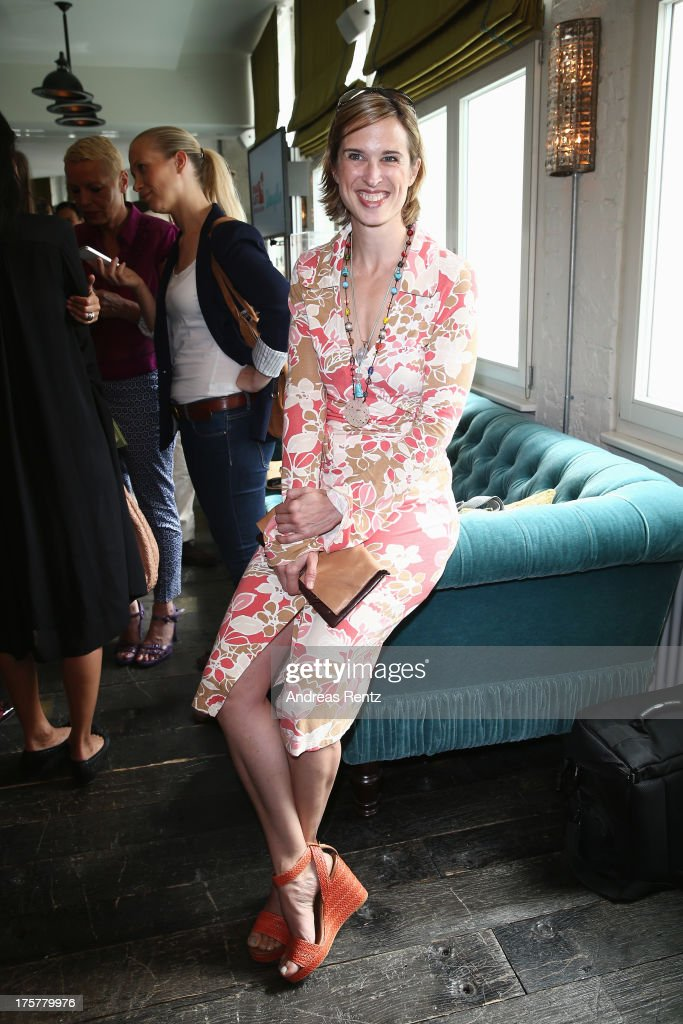 Tanya Neufeldt attends the DKMS LIFE Charity Ladies lunch at Soho House on August 8, 2013 in Berlin, Germany.