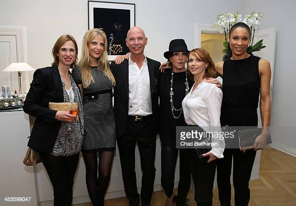 Tanya Neufeldt Tanja Buelter Michael R SchmidtKulbe Anouschka Renzi Tina Ruland and Annabelle Mandeng attend a photo exhibition of Tom Lemke at the...