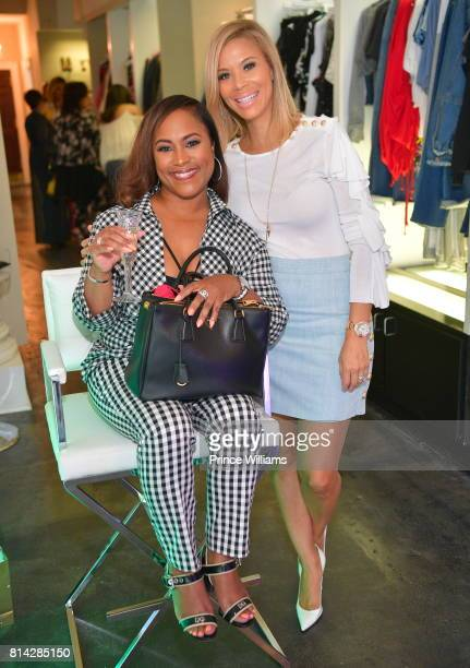 Tanya Parker and Erika Liles attend EveryHue PopUp Shop at Swagg Boutique on July 13 2017 in Atlanta Georgia
