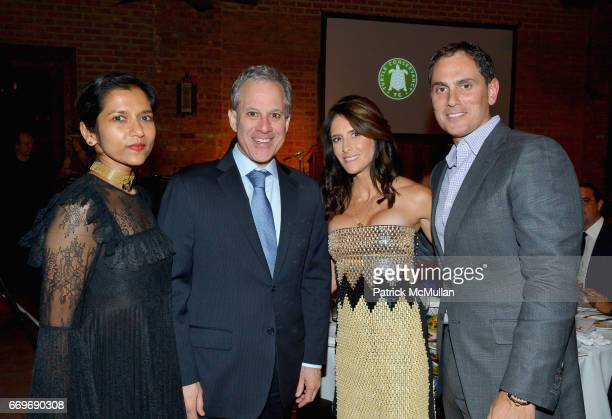 Tanya Selvaratnam Eric Schneiderman Adria Sheth and Brian Sheth attend The Turtle Conservancy's 4th Annual Turtle Ball at The Bowery Hotel on April...