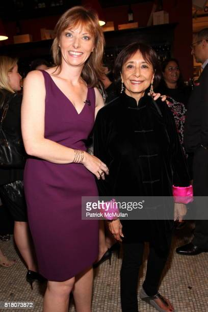 Tanya Steel and Madhur Jaffrey attend Epicurious 15th Anniversary Dinner at Eataly on September 29 2010 in New York