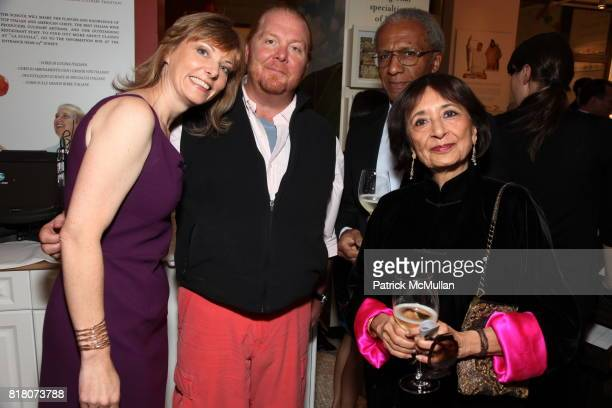 Tanya Steel Mario Batali Sanford Allen and Madhur Jaffrey attend Epicurious 15th Anniversary Dinner at Eataly on September 29 2010 in New York