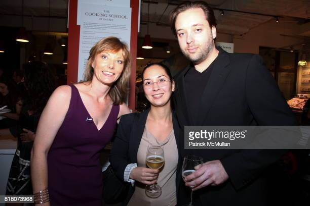 Tanya Steel Paul Liebrandt and Arleene Ocontrillo attend Epicurious 15th Anniversary Dinner at Eataly on September 29 2010 in New York