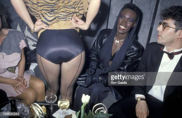 Tanya Tucker Grace Jones and guest during The Limelight 5th Anniversary Party at Limelight Disco Club in New York City New York United States