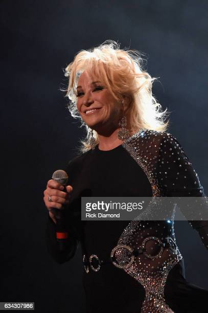 Tanya Tucker performs during 1 Night 1 Place 1 Time A Heroes Friends Tribute to Randy Travis at Bridgestone Arena on February 8 2017 in Nashville...