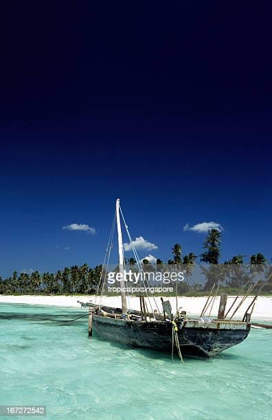 Tanzania, Zanzibar, east coast, boat.