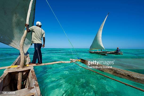 Tanzania, Zanzibar, fisher at Jambiani