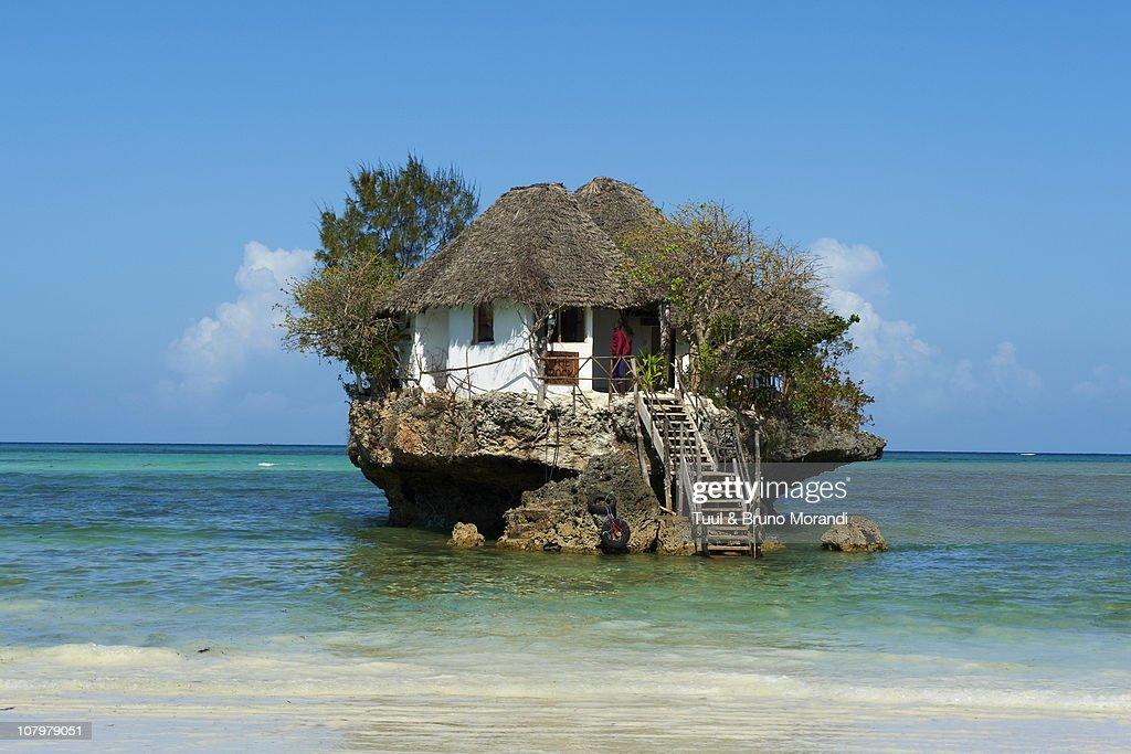 Tanzania, Zanzibar, Matemwe beach, Rock restaurant : Stock Photo