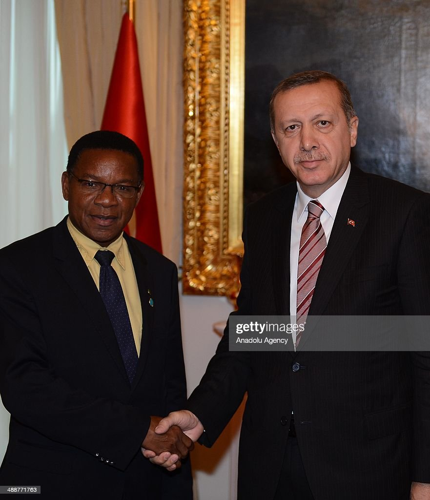 Tanzanian Minister of Foreign Affairs and International Cooperation Bernard Kamillius Membe meets with Turkish Prime Minister Recep Tayyip Erdogan at...