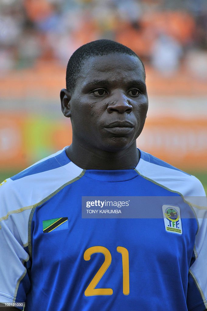 Tanzania's defender Stephano Mwasika poses before a friendly match against Brazil on June 7, 2010, at the National stadium in Dar es Salaam, ahead of the WC2010 FIFA World Cup held in South Africa.