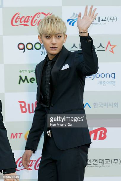 Tao of boy band EXOM attends 3rd Gaon Chart KPop Awards at Olympic Gym on February 12 2014 in Seoul South Korea