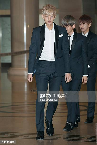 Tao of boy band EXOM attends the 28th Golden Disk Awards at Kyunghee University on January 16 2014 in Seoul South Korea