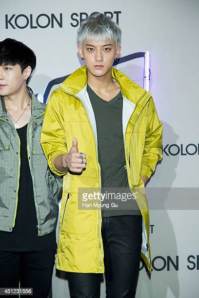 Tao of boy band EXOM attends the Kolon Sport 2014 A/W fashion show on June 25 2014 in Seoul South Korea