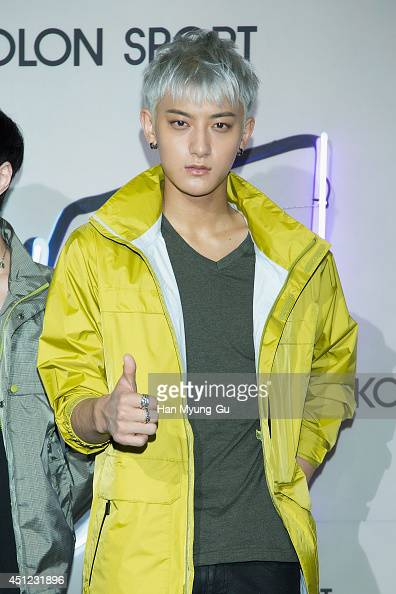 Tao of boy band EXOM attends the Kolon Sport 2014 A/W fashion show on June 25 2014 in Seoul South Korea