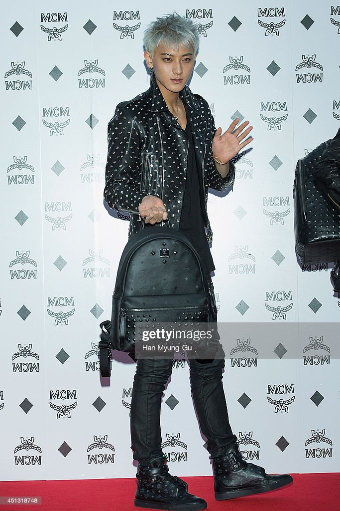 Tao of boy band EXOM attends the MCM Mega Concept store opening on June 26 2014 in Seoul South Korea