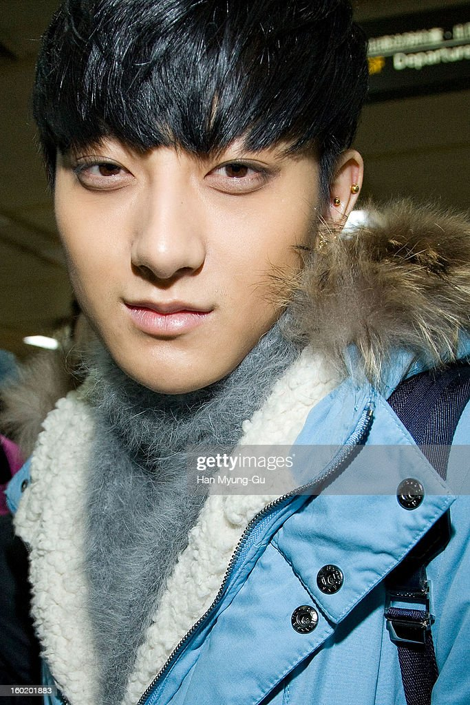 Tao of boy band EXO-M is seen at Gimpo International Airport on January 27, 2013 in Seoul, South Korea.