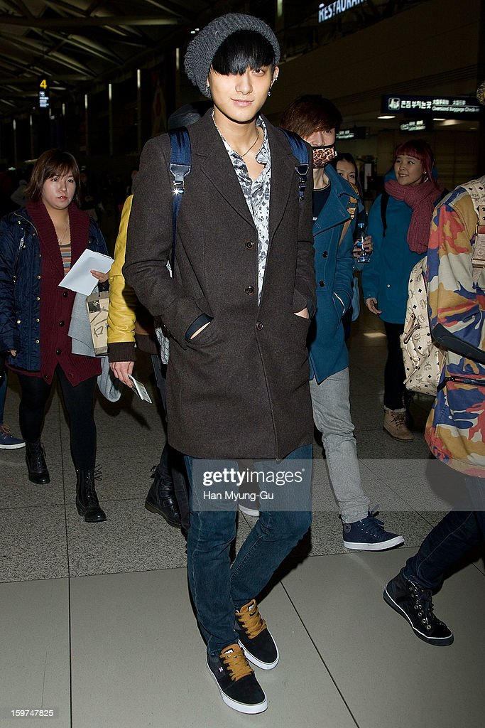 Tao of boy band EXO-M is seen at Incheon International Airport on January 19, 2013 in Incheon, South Korea.