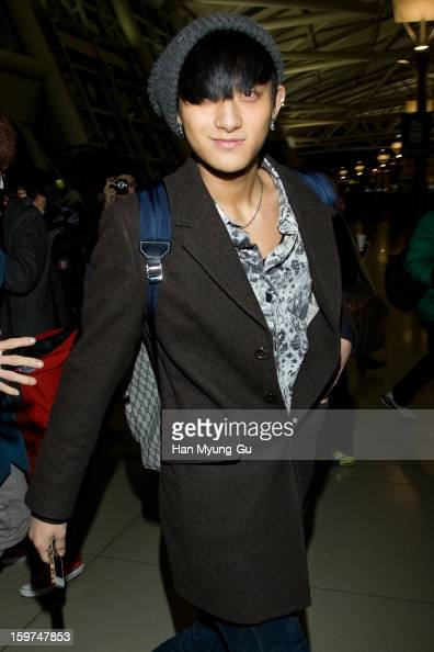 Tao of boy band EXOM is seen at Incheon International Airport on January 19 2013 in Incheon South Korea