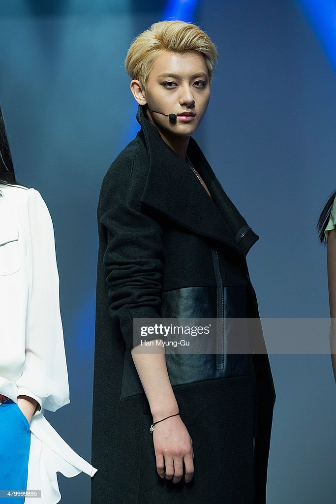 Tao of boy band EXOM walks the runway the Seoul Fashion Week A/W 2014 at DDP on on March 21 2014 in Seoul South Korea