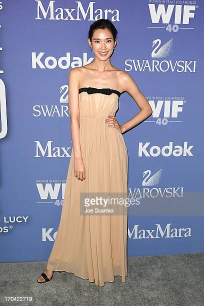 Tao Okamoto arrives at the 2013 Women in film's Crystal Lucy Awards at The Beverly Hilton Hotel on June 12 2013 in Beverly Hills California