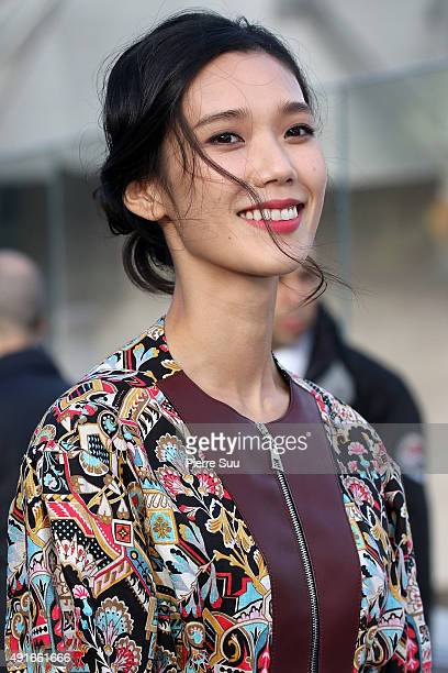 Tao Okamoto at the Louis Vuitton show as part of the Paris Fashion Week Womenswear Spring/Summer 2016 on October 7 2015 in Paris France