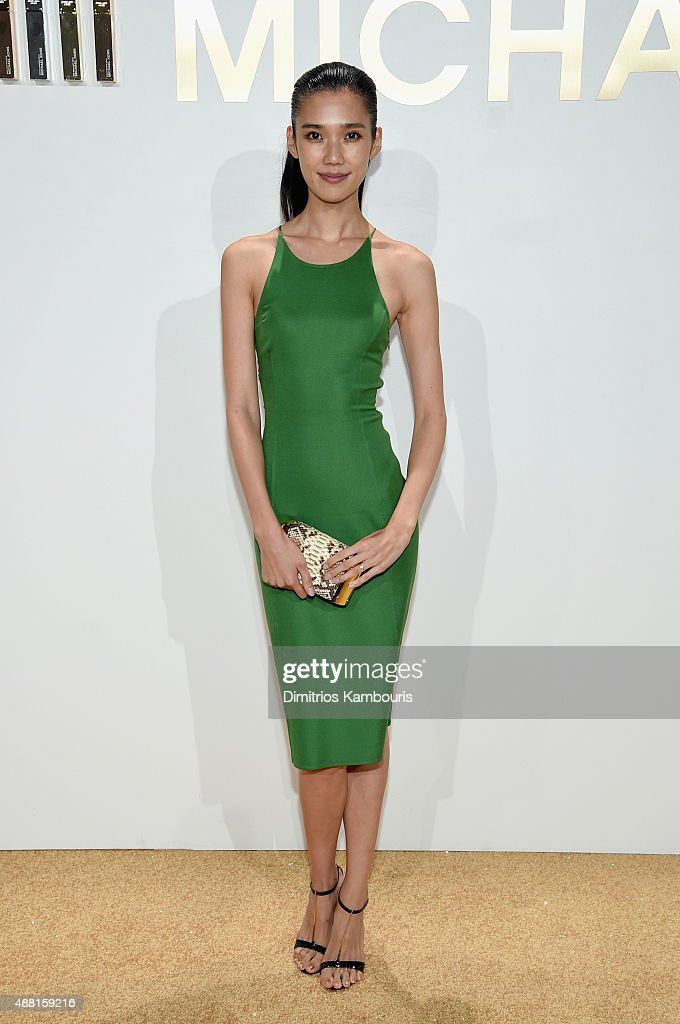Tao Okamoto attend the new Gold Collection fragrance launch hosted by Michael Kors featuring Duran Duran at Top of The Standard Hotel on September 13...