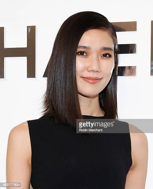 Tao Okamoto attends Michael Kors at Spring Studios on February 18 2015 in New York City