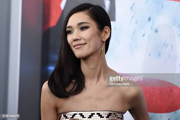 Tao Okamoto attends the 'Batman V Superman Dawn Of Justice' New York Premiere at Radio City Music Hall on March 20 2016 in New York City
