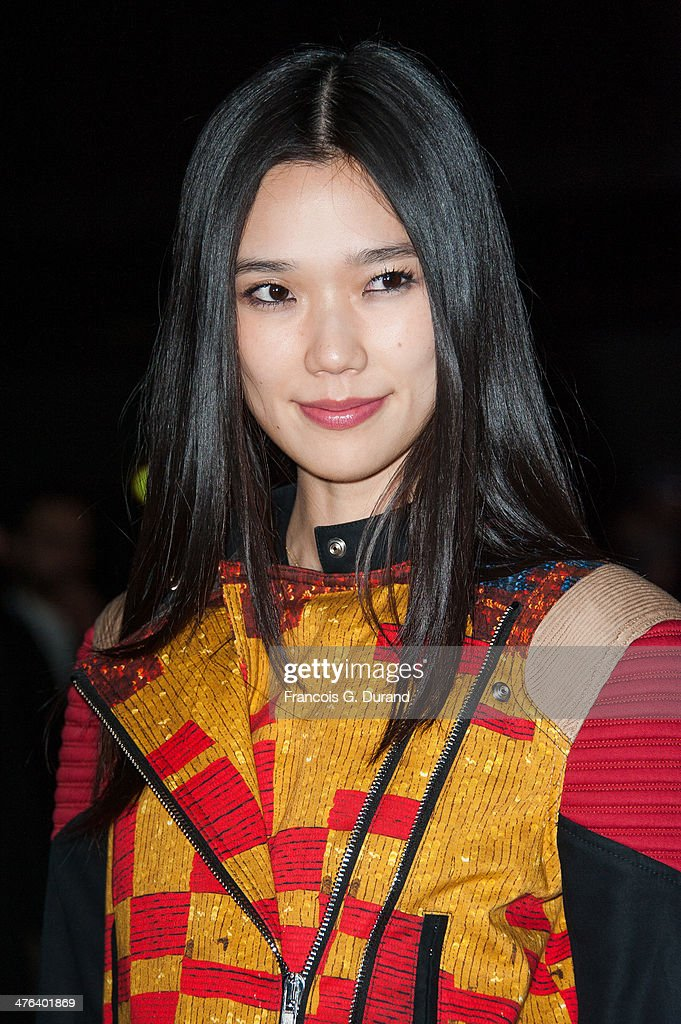 Tao Okamoto attends the Givenchy show as part of the Paris Fashion Week Womenswear Fall/Winter 20142015 on March 2 2014 in Paris France