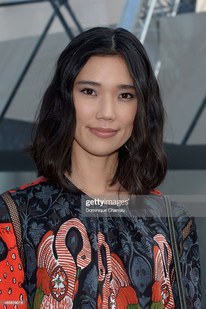 Tao Okamoto attends the Louis Vuitton show as part of the Paris Fashion Week Womenswear Fall/Winter 2015/2016 on March 11, 2015 in Paris, France.