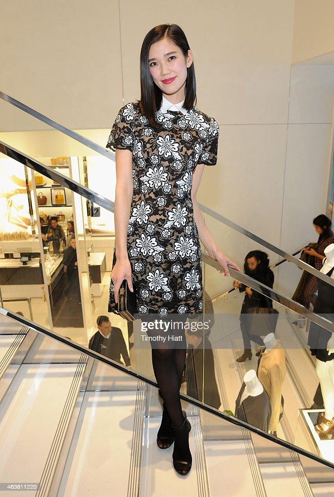 Tao Okamoto attends the Michael Kors Miranda Eyewear Collection Event on February 18 2015 in New York City