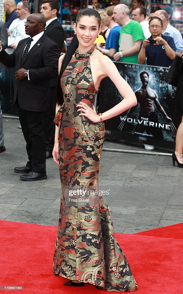 Tao Okamoto attends the UK film premiere of 'The Wolverine' at The Empire Cinema on July 16, 2013 in London, England.
