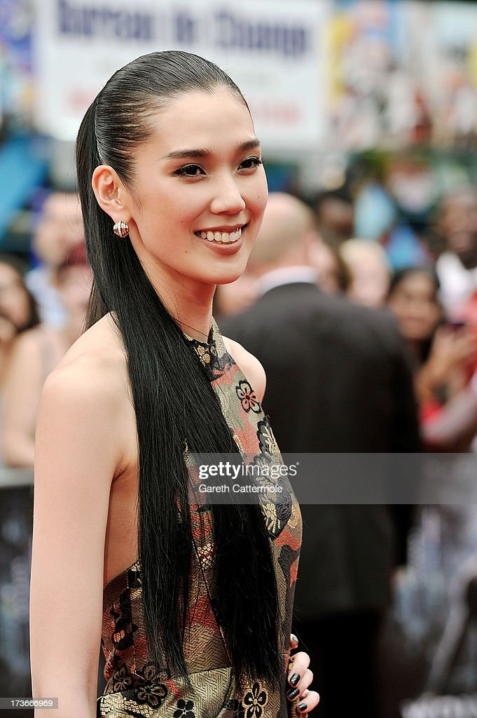 Tao Okamoto attends the UK Premiere of 'The Wolverine' at Empire Leicester Square on July 16, 2013 in London, England.
