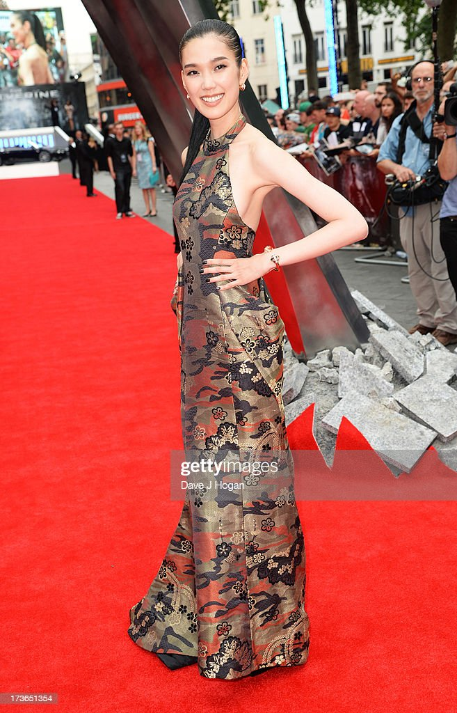 Tao Okamoto attends the UK premiere of 'The Wolverine' at The Empire Leicester Square on July 16, 2013 in London, England.