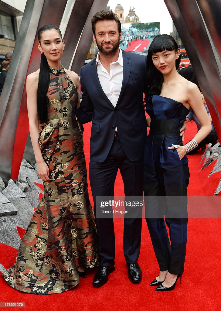 <a gi-track='captionPersonalityLinkClicked' href=/galleries/search?phrase=Tao+Okamoto&family=editorial&specificpeople=6147528 ng-click='$event.stopPropagation()'>Tao Okamoto</a>, <a gi-track='captionPersonalityLinkClicked' href=/galleries/search?phrase=Hugh+Jackman&family=editorial&specificpeople=202499 ng-click='$event.stopPropagation()'>Hugh Jackman</a> and <a gi-track='captionPersonalityLinkClicked' href=/galleries/search?phrase=Rila+Fukushima&family=editorial&specificpeople=10133717 ng-click='$event.stopPropagation()'>Rila Fukushima</a> attends the UK premiere of 'The Wolverine' at The Empire Leicester Square on July 16, 2013 in London, England.