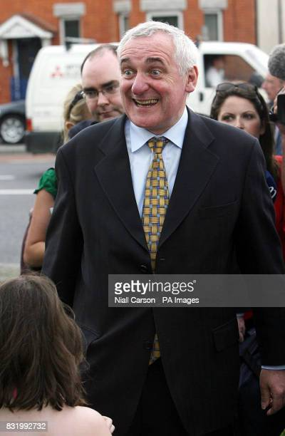 Taoiseach Bertie Ahern greets constituents in Druncondra Dublin as he congratulated members of the Irish Autism Life Cycle who biked through every...