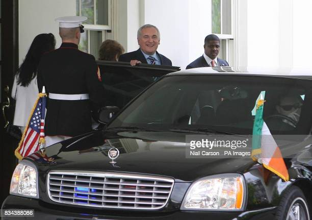 Taoiseach Bertie Ahern Leaving the White House in Washington after meeting president George Bush