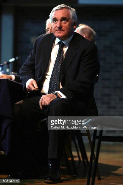 Taoiseach Bertie Ahern sits in St Patrick's College Drumcondra Dublin Monday September 19 where he announced the winners of CIE and Independent...