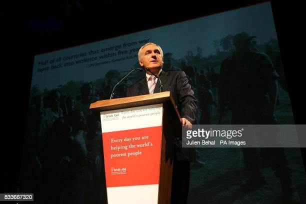 Taoiseach Bertie Ahern TD speaks at the launch of the Governments White Paper on Irish Development Aid in the Mansion House Dublin