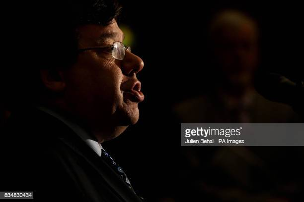 Taoiseach Brian Cowen before addresses the IBECCBI Joint Business Conference in Trinity College Dublin on the day President Mary McAleese signed...