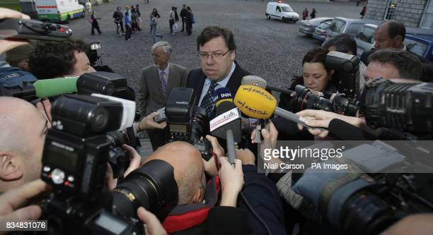 Taoiseach Brian Cowen before addressing the IBECCBI Joint Business Conference in Trinity College Dublin on the day President Mary McAleese signed...