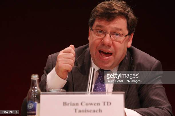Taoiseach Brian Cowen launches the Government Framework for Sustainable Economic Development in Dublin Castle