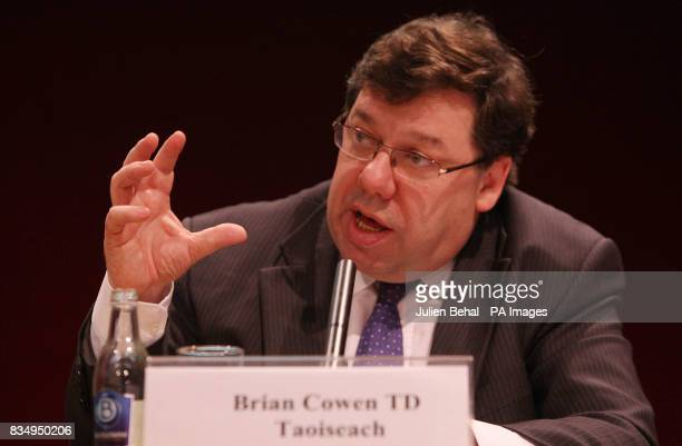 Taoiseach Brian Cowen launches the Government Framework for Sustainable Economic Development in Dublin Castle PRESS Association Photo