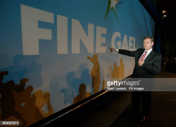 Taoiseach Enda Kenny attends the Fine Gael ard fheis at the RDS Dublin PRESS ASSOCIATION Photo Picture date Saturday March 1 2014 Photo credit should...