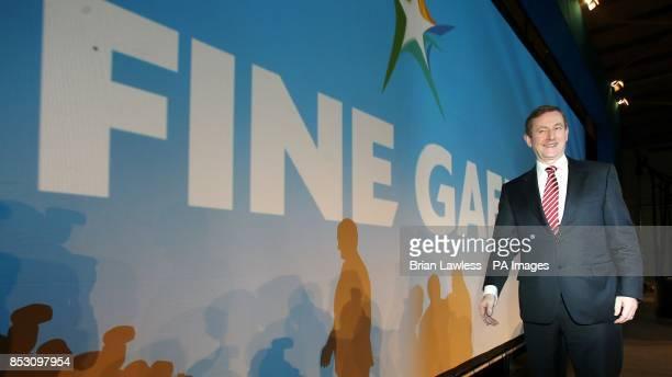 Taoiseach Enda Kenny attends the Fine Gael ard fheis at the RDS Dublin