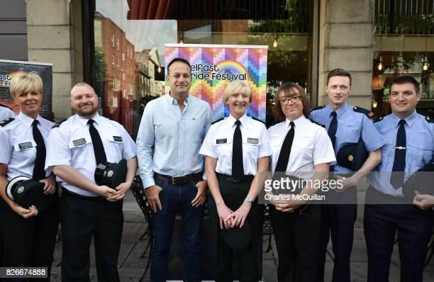 Taoiseach Leo Varadkar attends a Belfast Gay Pride breakfast meeting along with assistant Chief Constable Barbara Gray alongside PSNI and Garda...