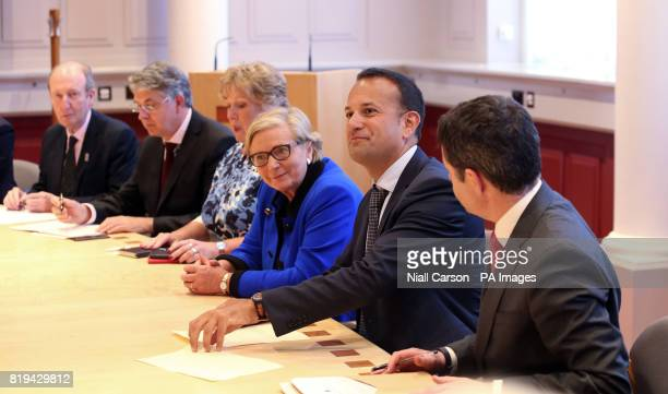 Taoiseach Leo Varadkar chairs the first meeting of the Government Security Committee at Government Buildings in Dublin