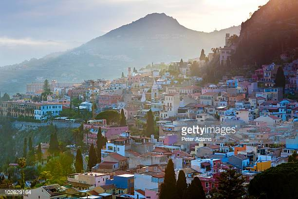 Taormina at Sunset, Sicily, Italy