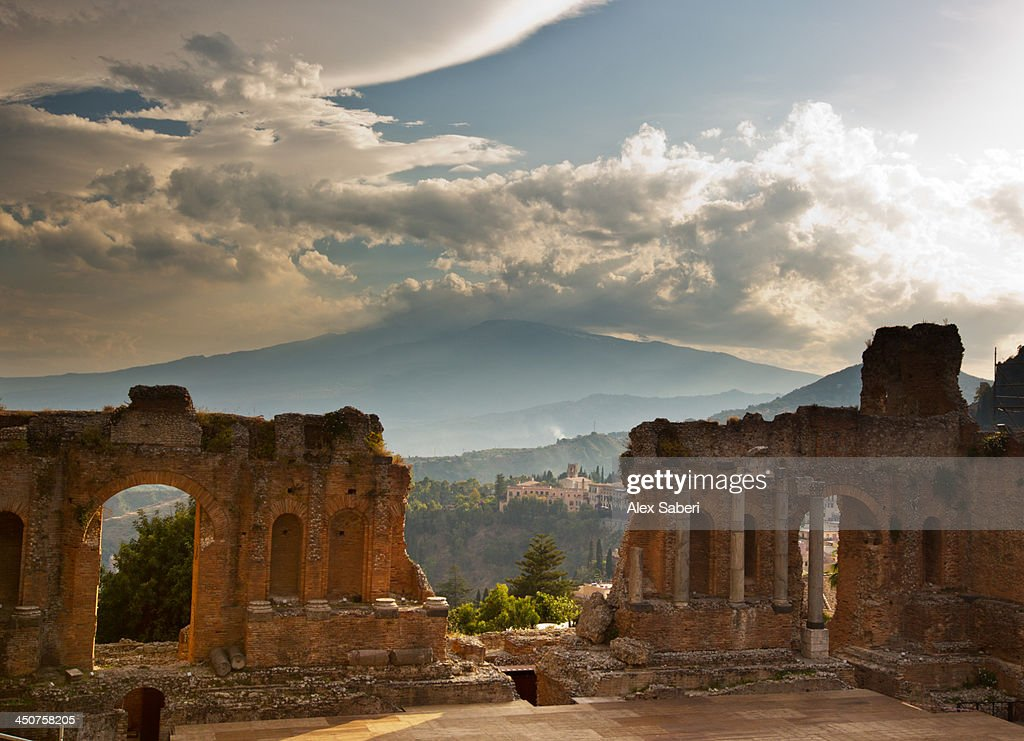 the Greek Amphitheater of Taormina