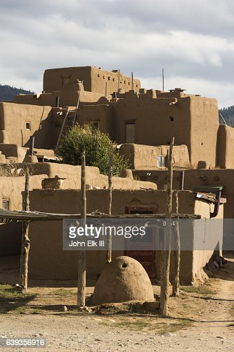 Old pueblo stock photos and pictures getty images - Pueblo adobe houses property ...